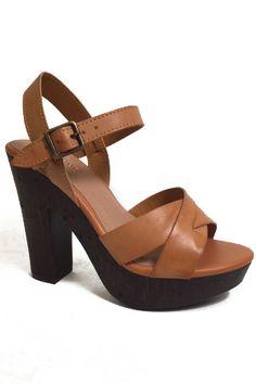 5808319163b bamboo fabiola-08 double cross band wood heels - Bamboo Me Too Shoes