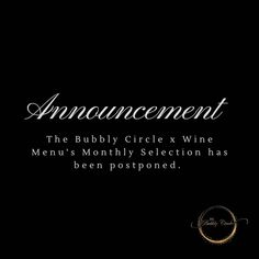Unfortunately we had to postpone the monthly Bubbly Selection in order to give @winemenusa a chance to catch up with thier back orders.  We didn't want you to wait longer than necessary for your bubbles.  Please do watch the space and keep suggesting the bubbles you'd like to have in the selection.  #TheBubblyCircle #TheBubblyPassionista #TheBubblyQueen #Bubbly101 #Bubbly #Bubbles #MCC #CapClassique #Champagne #Prosecco #SparklingWine #BubblyLovers #ChampagneLover #Wine #Champagne101… Sparkling Wine, Prosecco, The Selection, Champagne, Bubbles, Space, Watch, Display, Clock