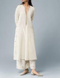 Designer Hand Made Indian Pakistani Traditional Stylish Stitched Kurta with Hand Embroidered Sharara
