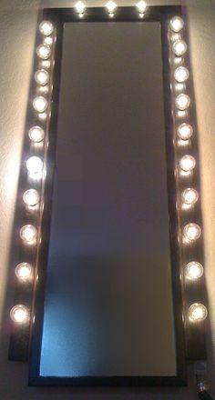 Custom Lit Glamor Mirror makeup illuminated by WoodUBeMine on Etsy, $150.00