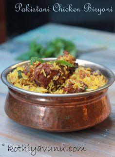 Pakistani Chicken Biryani- Excite your taste-buds with an explosion of flavors! Keema Biryani Recipe, Chicken Biryani Recipe Pakistani, Biryani Chicken, Briyani Recipe, Paneer Recipes, Indian Food Recipes, Asian Recipes, Kashmiri Recipes, Arabic Recipes