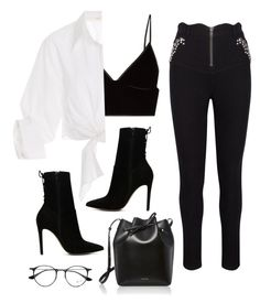 Sin título #726 by bethsalash on Polyvore featuring polyvore, fashion, style, Johanna Ortiz, T By Alexander Wang, ALDO, Mansur Gavriel, Ray-Ban and clothing