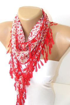 New Traditional YEMENI Turkish Lace Scarf by scarvesCHIC on Etsy, $12.90
