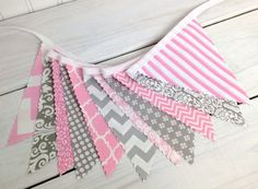 Bunting Fabric Banner Flags Photography Prop от thespottedbarn