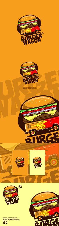 BURGER WAGON, Логотип © Митя Дмитриев