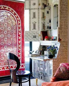 This desk worthy a pin! La Maison Boheme: Home Tour | Artist Isabelle de Borchgrave