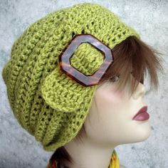 Instant Download Crochet Slouch Hat Pattern With by kalliedesigns $4.50