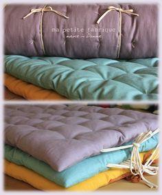 Matelas de sol lin capitonné COMMANDE PERSONNALISEE : Textiles et tapis par ma-petite-fabrique-domme