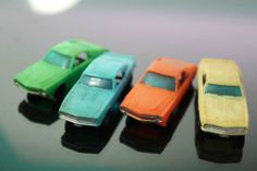 TYCO HO Scale PLASTIC MUSCLE CARS 1968 CHEVY CAMARO 1968 AMX TRAIN CAR LOADS #oldtoysandcollectables #vintage #toys #trains #railroads #cars #vehicles  Cute for a Christmas or train layout!