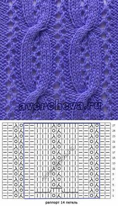 Lace Knitting Stitches, Knitting Machine Patterns, Lace Knitting Patterns, Cable Knitting, Knitting Charts, Knitting Designs, Stitch Patterns, Knitting Needles, Crochet Chart