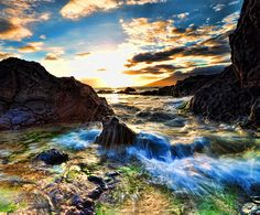 Charlie Young Beach, Sunset with low tide, Kihei, Maui, Ha…   Flickr