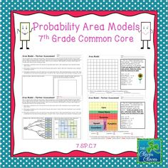 This product includeds two activities that can be used to study probability area models. The first activity asks students to create a maze from a set of directions. The second activity involves a 10 x 10 grid. Students create a garden based on given plants and dimensions.