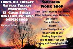 Find Events ads in Mildura Region, VIC. Buy and sell almost anything on Gumtree classifieds. Smudge Sticks, Smudging, Workshop, Therapy, Events, Ads, Make It Yourself, Learning
