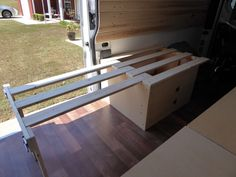 Ram ProMaster RV Camper Van Conversion - Beds and Storage Camper Beds, Truck Bed Camper, Diy Camper, Rv Campers, Van Conversion Interior, Camper Van Conversion Diy, Motorhome, Build A Camper Van, Campervan Bed