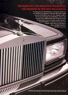 Rolls Royce – One Stop Classic Car News & Tips Classic Rolls Royce, Vintage Rolls Royce, Rolls Royce Motor Cars, Cars Uk, Best Classic Cars, Car Advertising, Disney Cars, Vintage Prints, Vintage Cars