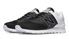 574 Re-Engineered Breathe, Black with White