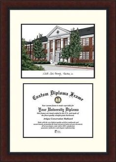 Nicholls State Diploma Frame Lithograph Legacy Series