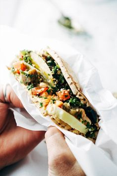 If you haven't tried a sabich sandwich, you are in for a treat. This is a vegan twist on the traditional Israeli sandwich using white beans instead of egg.