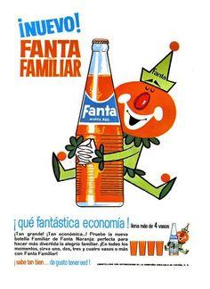 Para rentabilizar las plantas embotelladoras, Max Keith, el presidente de Coca-Cola, decidió crear un refresco de frutas, compuesto por la pulpa de manzanas procedente de la sidra y subproductos de la industria del queso, endulzado con sacarina y un porcentaje pequeño de azúcar. Las campañas del payaso de Fanta se publicitaron durante los años 60. Este del coche loco es de 1967.
