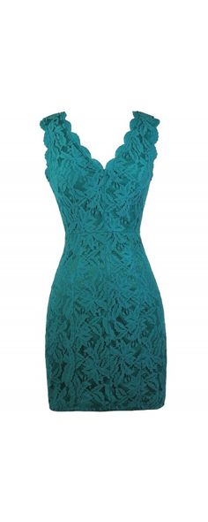 06d20f7c18 Lily Boutique Camille Lace Pencil Dress in Teal