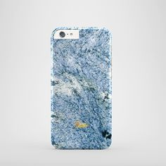 """""""Cerulean"""" / feature with Beautiful texture of marble stone printed  iPhone cover. #blue #marble #case #paletto"""