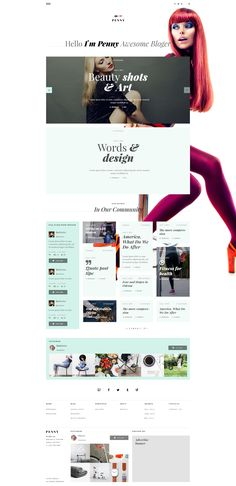 Penny - Blog / Magazine PSD Template by Bedismo