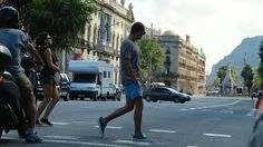 Enjoying the streets of Barcelona  Sneakers: Buddy Shoes. Shorts: Billabong  T-Shirt: Filippa K Sunglasses: Persol