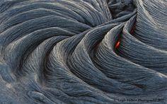 Pahoehoe lava in Hawaii.