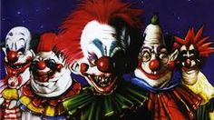 Killer Klowns from Outer Space.movie with bad acting but scary clowns Creepy Carnival, Creepy Clown, Insane Clown, Alfred Hitchcock The Birds, Clown Show, Halloween Entertaining, Yosemite Sam, Greatest Villains, Evil Clowns