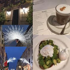 What a beautiful crisp Christmassy morning in London's Mayfair... and a perfect start to the day with Avocado and Poached Eggs on Toast at @cecconislondon  A Venetian inspired Italian restaurant Cecconi's is modern elegant and refined but not at all stuffy.  Food is simple and classic in the best meaning of the words - true to their Italian roots.  I look forward to returning for an afternoon in the sunshine at a table on the people watching pavement to sip prosecco for an afternoon.  Happy…