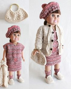 "18"" Doll Penelope Visits Piccadilly Circus Crochet Pattern"