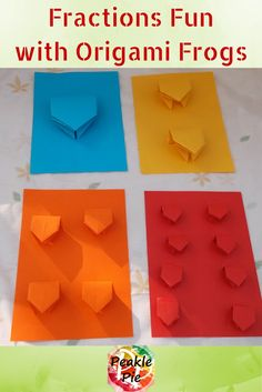 Origami Fraction Frogs