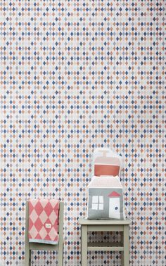 I would LOVE a bathroom wall in this harlequin print. Custom made tiles, even better.