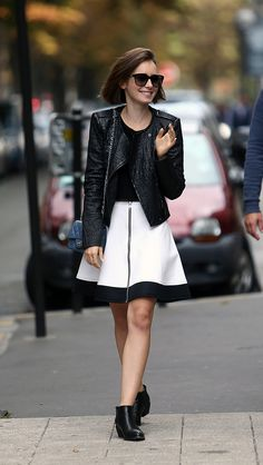 Lily Collins Puts a Prim Spin on Parisian AYAME FASHION BLOG…