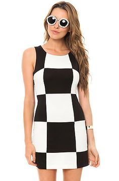 The Checked Dress in Black and White>