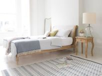 Darcy bed in our Natural cotton linen