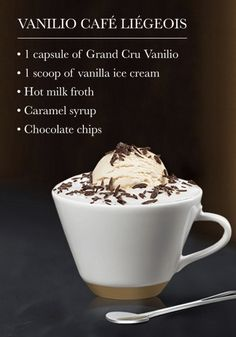 Discover your favorite Nespresso moment with this Vanilio Café Liégeois recipe. The combination of sweet chocolate flavor and silky ice cream is sure to inspire your senses.