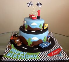 cars birthday cake Estrella wish list Pinterest Birthdays and