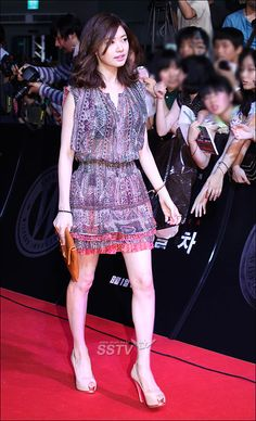 For the charming.Jung So Min 정소민 Jung So Min, Peplum Dress, Simple, Sweet, Dresses, Fashion, Korean Actors, Korean Actresses, Places