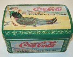 Coca Cola Always Coca Cola, Vintage Tins, Metal Box, Kitsch, Nostalgia, Decorative Boxes, Shabby, Floral, Pattern