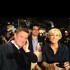 Quick photo with the Joe & Mika. Morning Joe is a personal favorite so it was an honor to hang out on the set for a few days.
