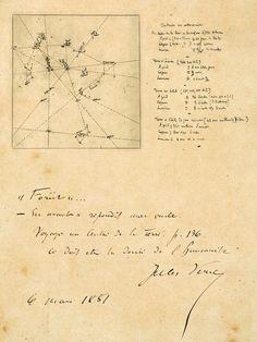JULES VERNE,LA ASTRONOMIA Y LA LITERATURA: Jules Verne manuscript : The 'Celestial Chart' des...