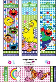 Bookmarks, Sesame Street, Bookmarks - Free Printable Ideas from Family Shoppingbag.com