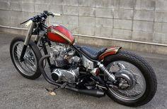TR ガレージ MOTOR CYCLE CUSTOM GARAGE: xs650 フルカスタム 完成 チョッパー ボバー