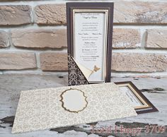 Invitatii nunta Total Happy :: CATALOG SEDEF :: Invitatie nunta cod 3709 cu fluturasi auriu - Eventisimo Happy, Ser Feliz, Being Happy