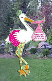 41 Best Stork Yard Sign Birth Announcements Images Stork
