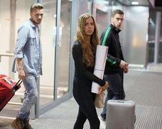 Liam and sophia at the airport yesterday...its not the same...<<< it's really not...