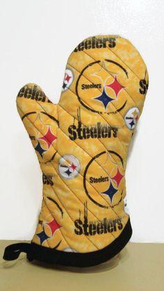 Oven Mitt Pittsburgh Steelers Gold by LovinTheGoodOleDays on Etsy