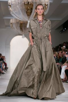 Ralph Lauren Safari Ballgown | Fashion Week Now Spring 2015 - NYTimes.com
