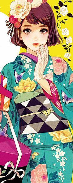 Cover art by Japanese illustrator Hiromi Matsuo 松尾裕美 Illustration Manga, Japanese Illustration, Illustrations, Manga Anime, Manga Art, Anime Art, Pretty Art, Cute Art, Character Art